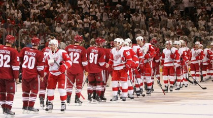 red wings phoenix coyotes post season handshake