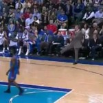 rick carlisle kicks ball at fan