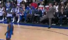 Mavs' Coach Rick Carlisle Kicks The Ball At Some Fans (Video)