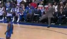 Mavs' Coach Rick Carlisle Kicks The Ball At Some Fans (Video)