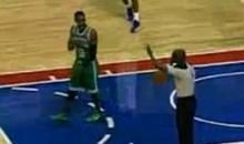 Rajon Rondo Throws The Ball At The Ref (Video)