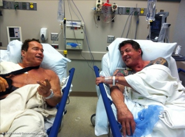 schwarzenegger and stallone hospital shoulder surgeries