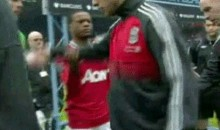 Liverpool's Luis Suarez Refused To Shake Hands With Mau U's Patrice Evra (GIF & Video)