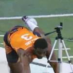 vick ballard 40-yard dash fall