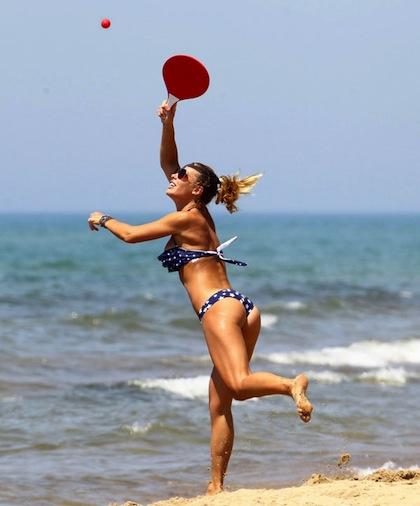 #12 illary blasi beach bikini paddleball