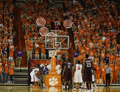 #13 clemson free throw distraction