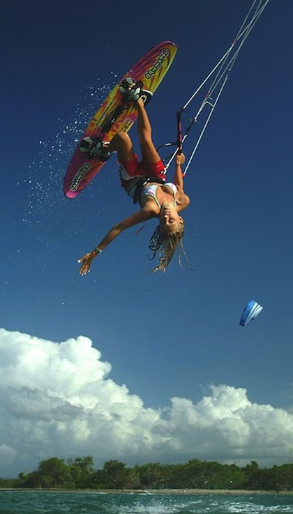 #13 hot chick parasail wakeboarding