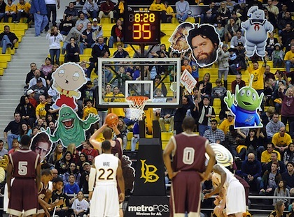 #15 long beach state 49ers free throw distraction