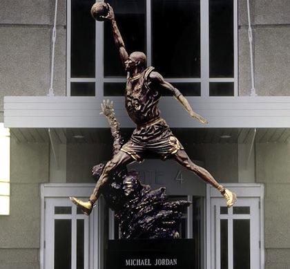 air jordan statue chicago stadium