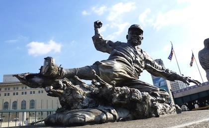 ty cobb statue