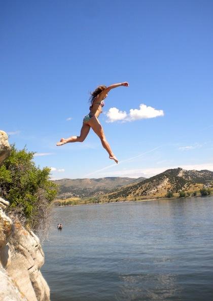 #8 bikini cliff jumping
