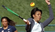 Michelle Obama Hitting A Tennis Ball Gets Photoshopped (Gallery)