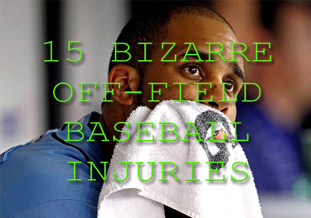 bizarre baseball injuries