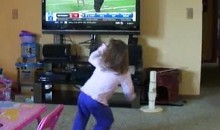Little Girl Performs NFL Combine Drills For Daddy (Video)