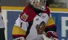 Erie Otters' Forward Plays Goalie, Allows 13 Goals Against, Named Game's First Star (Video)