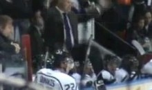 Gatineau Olympiques Head Coach Throws Garbage On Ice During Tantrum (Video)