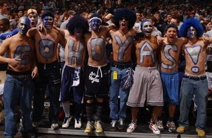 georgetown hoyas basketball fans
