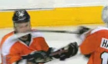 Scott Hartnell Slashes Teammate Zac Rinaldo In The Face (Video)