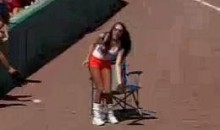 Phillies Fans Boo Hooters Ball Girl (Video)