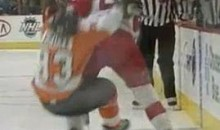 Wings' Niklas Kronwall Destroys Flyers' Jakub Voracek (Video)