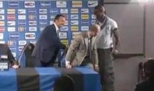 Mario Balotelli Interrupts Press Conference As Inter Milan Introduces New Manager (Video)