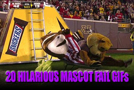 mascot fail gifs