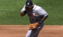 Miguel Cabrera Takes A Ball To The Face (Video)