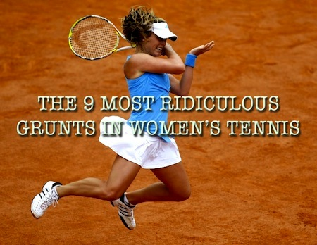 most ridiculous grunts in women's tennis