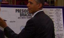 President Barack Obama Fills Out His 2012 NCAA March Madness Bracket (Video)