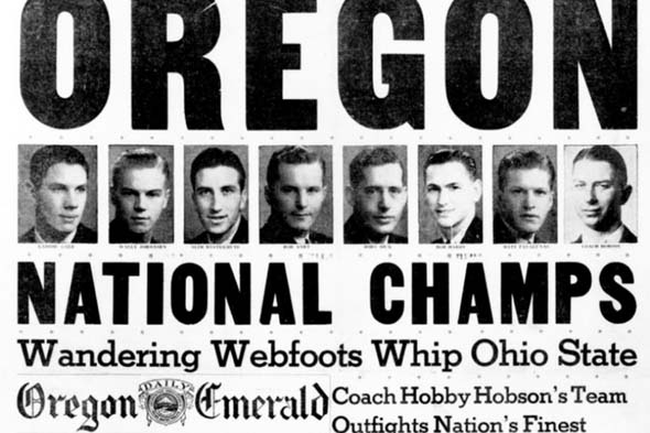 oregon 1939 ncaa national champions tournament