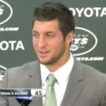 tim tebow excited jets