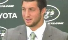 "Tim Tebow Is ""Excited"" To Be A New York Jet (Video)"