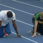 usain bolt prince harry race