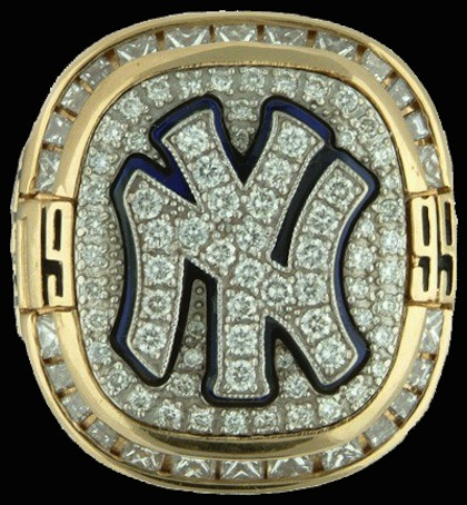 #1 1999 yankees world series ring