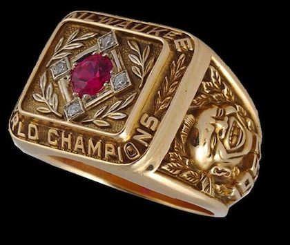 Milwaukee Braves World Series Ring