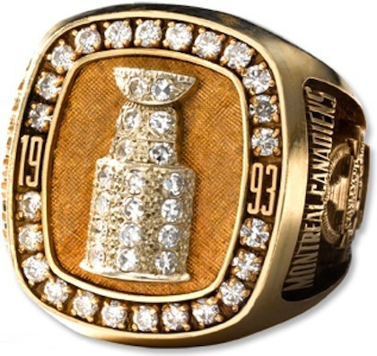 #10 montreal canadiens 1993 stanley cup championship rings