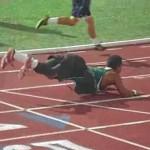 100-meter dash worm