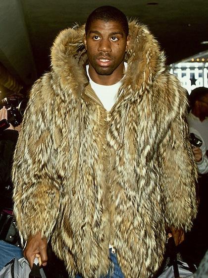 #11 magic johnson fur coat