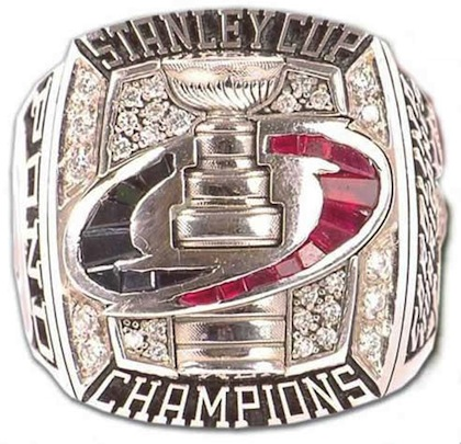 #12 carolina hurricans 2006 stanley cup championship ring