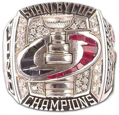 #12 carolina hurricans 2006 stanley cup championship ring