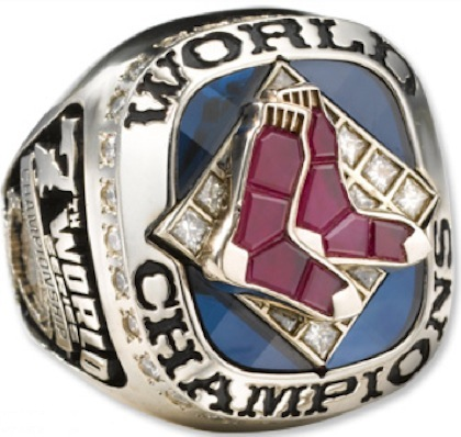 #12 red sox 2007 world series ring