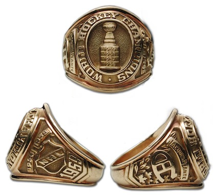 #13 montreal canadiens 1959 stanley cup championship ring