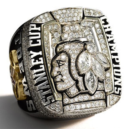 #14 chicago blackhawks 2010 stanley cup championship rings
