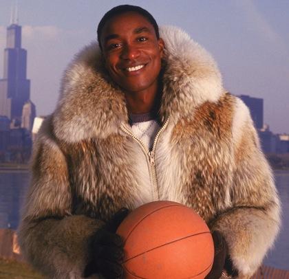 #14 isiah thomas fur coat