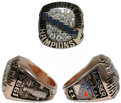 #15 new york rangers 1994 stanley cup championship rings