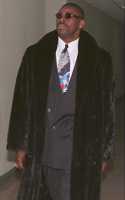 #18 michael irvin fur coat