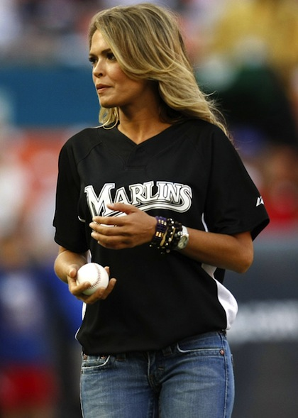 #2 cindy taylor marlins first pitch