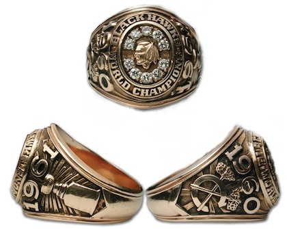#3 chicago blackhawks 1961 stanley cup championship ring