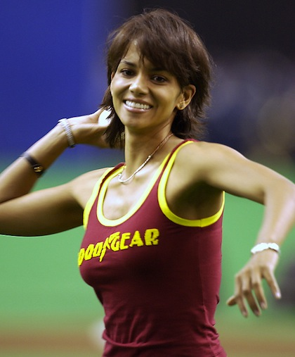 #3 halle berry montreal first pitch 2003