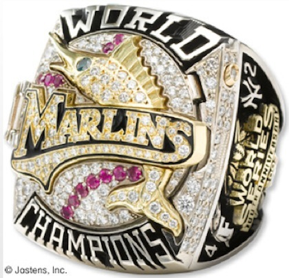 #3 marlins 2003 world series ring